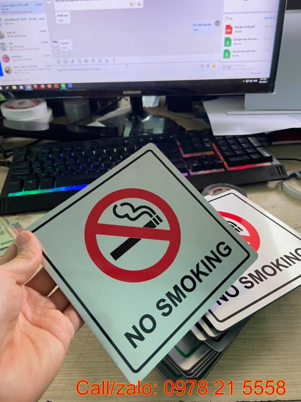 Biển báo không hút thuốc