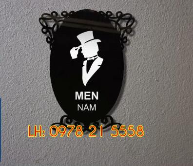 biển toilet nam nữ