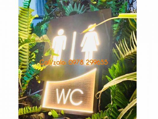 Biển wc toilet có đèn