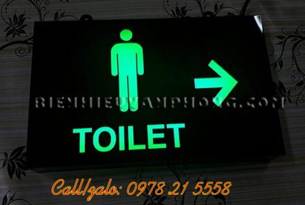 Biển hiệu toilet sáng