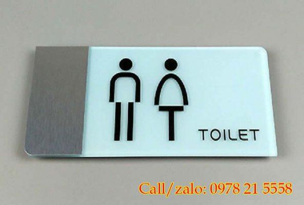 Mẫu biển nhà vệ sinh nam nữ đẹp
