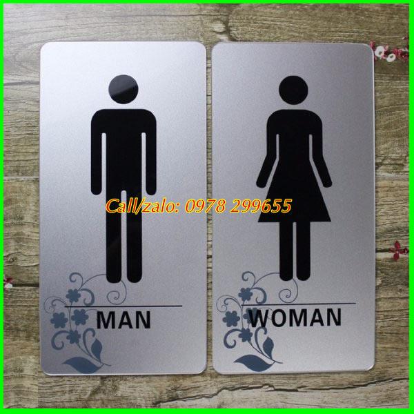 Mẫu biển nhà vệ sinh nam nữ